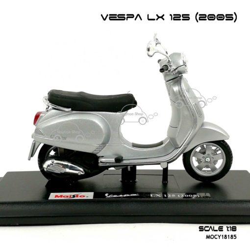 โมเดลเวสป้า VESPA LX 125 2005 สีบรอนด์ (1:18) โมเดลสำเร็จ