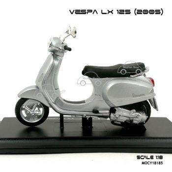 โมเดลเวสป้า VESPA LX 125 2005 สีบรอนด์ (1:18) พร้อมฐานวางตั้งโชว์