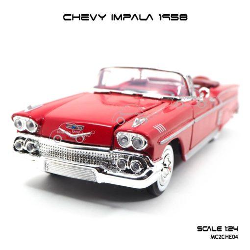 โมเดล รถคลาสสิค CHEVY IMPALA 1958 สีแดง