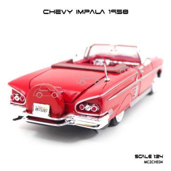 โมเดล รถคลาสสิค CHEVY IMPALA 1958 สีแดง (1:24)