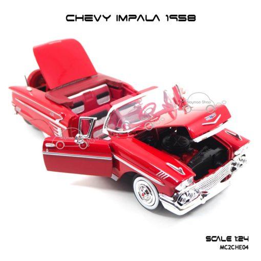 โมเดล รถคลาสสิค CHEVY IMPALA 1958 สีแดง (1:24) เปิดได้ครบ