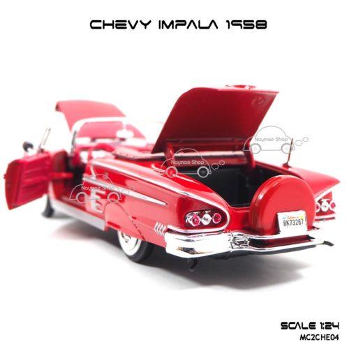 โมเดล รถคลาสสิค CHEVY IMPALA 1958 สีแดง (1:24) สวยงามน่าสะสม