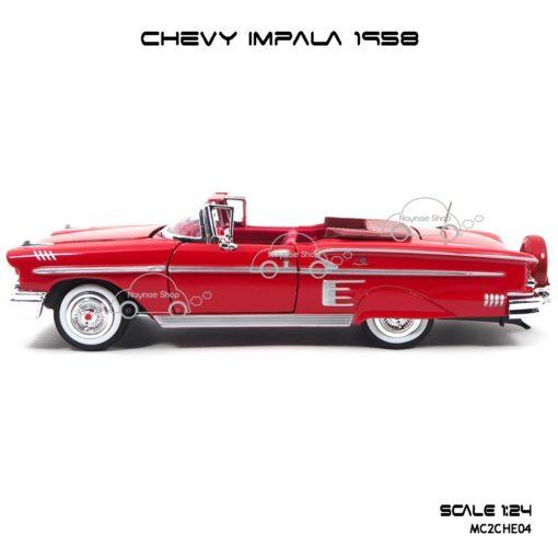 โมเดล รถคลาสสิค CHEVY IMPALA 1958 สีแดง (1:24) โมเดลของแท้