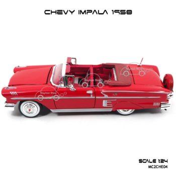 โมเดล รถคลาสสิค CHEVY IMPALA 1958 สีแดง (1:24) โมเดลสำเร็จ