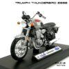 โมเดล รถคลาสสิค TRIUMPH THUNDERBIRD 2002 สีแดงบรอนด์ (1:18)