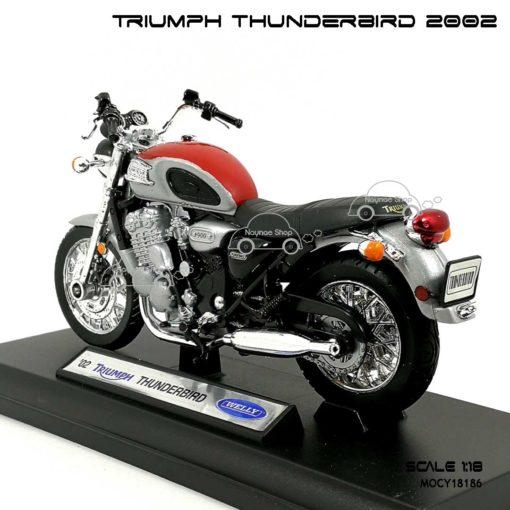 โมเดล รถคลาสสิค TRIUMPH THUNDERBIRD 2002 สีแดงบรอนด์ (1:18) ถอดจากฐานได้