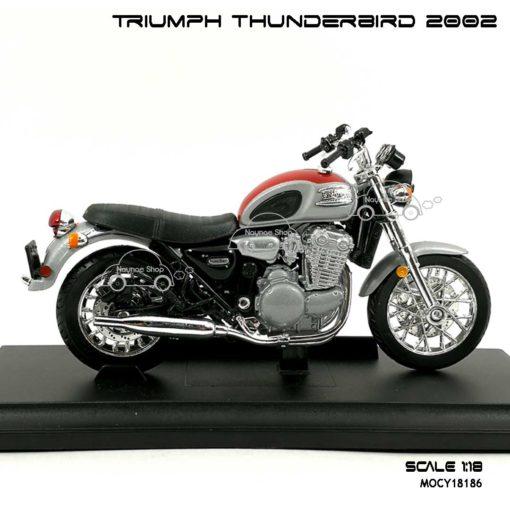 โมเดล รถคลาสสิค TRIUMPH THUNDERBIRD 2002 สีแดงบรอนด์ (1:18) โมเดล ประกอบ สำเร็จ