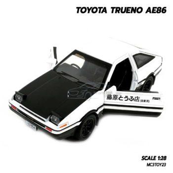 โมเดล รถส่งเต้าหู้ TOYOTA TRUENO AE86 ฝากระโปรงดำ (1:28) เปิดประตูรถซ้ายขวาได้