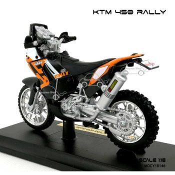 โมเดล แรลลี่ KTM 450 RALLY (1:18) พร้อมฐานวาง