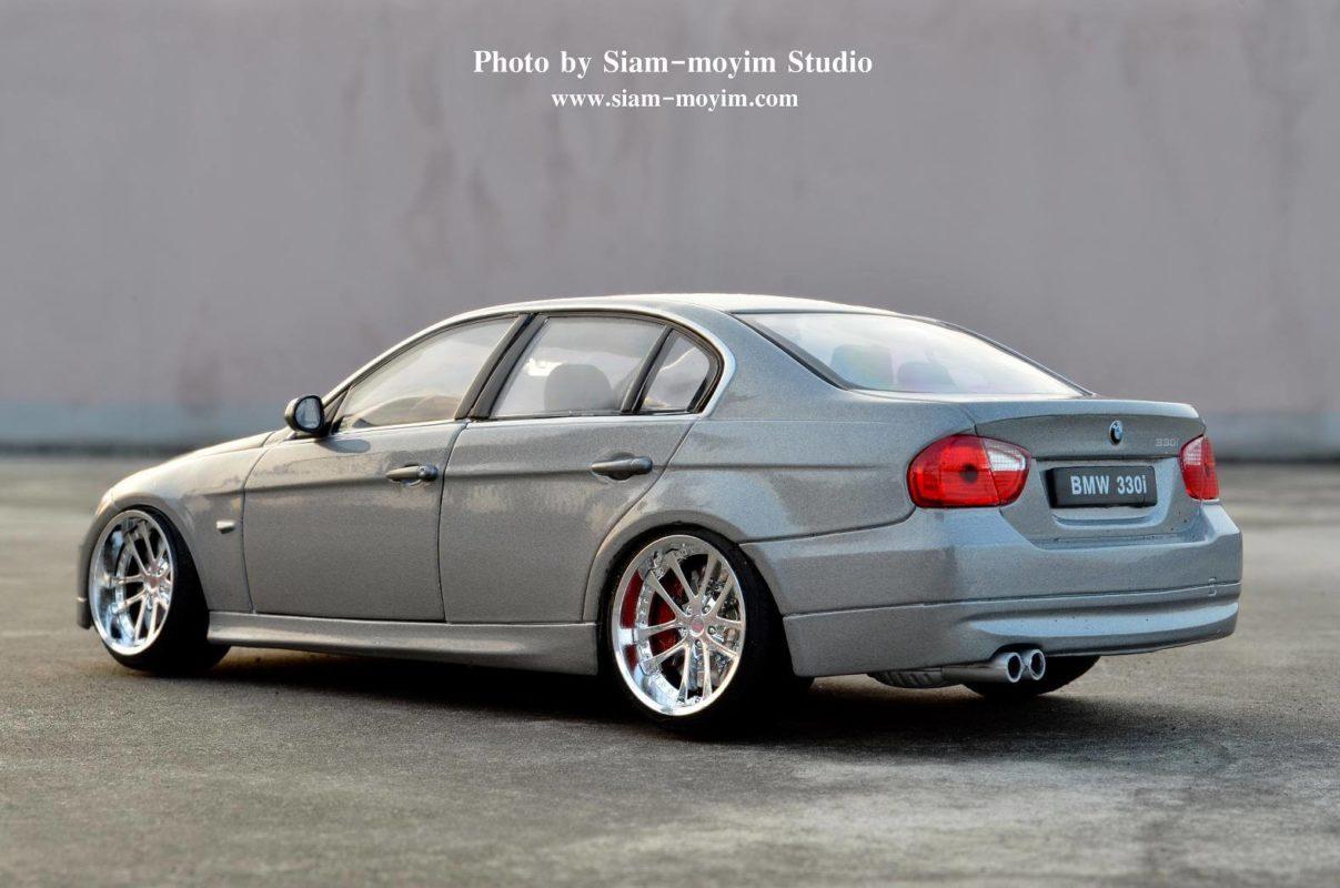 BMW 330i โมเดลรถแต่ง (1:24) ล้อแม็กซ์แต่งลายสวย