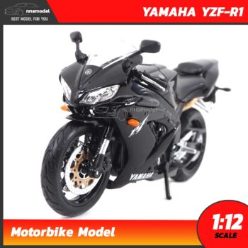 โมเดลมอเตอร์ไซด์ บิ๊กไบค์ YAMAHA YZF-R1 สีดำ (Scale 1:12)