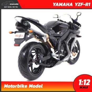 โมเดลมอเตอร์ไซด์ บิ๊กไบค์ YAMAHA YZF-R1 สีดำ (Scale 1:12) โมเดลประกอบสำเร็จ Maisto