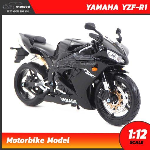 โมเดลมอเตอร์ไซด์ บิ๊กไบค์ YAMAHA YZF-R1 สีดำ (Scale 1:12) โมเดลบิ๊กไบค์ รุ่นขายดี