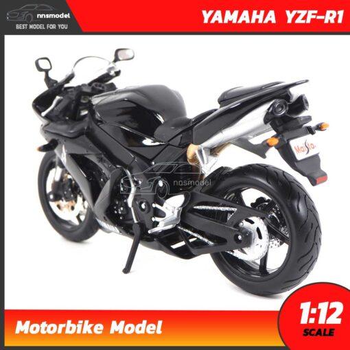 โมเดลมอเตอร์ไซด์ บิ๊กไบค์ YAMAHA YZF-R1 สีดำ (Scale 1:12) โมเดลบิ๊กไบค์ โมเดลจำลองเหมือนจริง Maisto