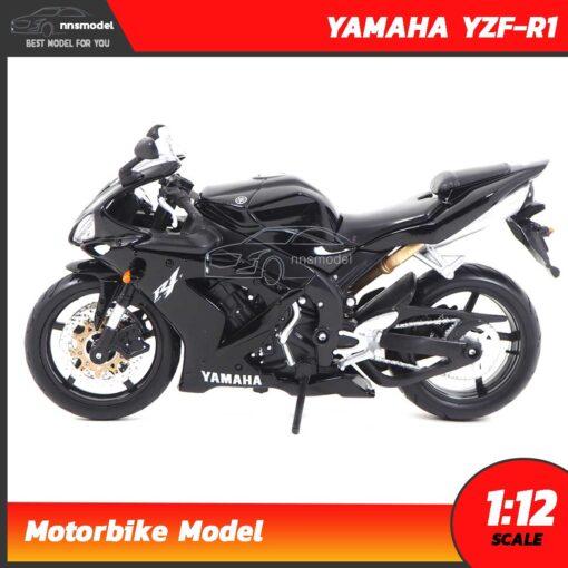 โมเดลมอเตอร์ไซด์ บิ๊กไบค์ YAMAHA YZF-R1 สีดำ (Scale 1:12) โมเดลบิ๊กไบค์ โมเดลจำลองเหมือนจริง Motorbike Model