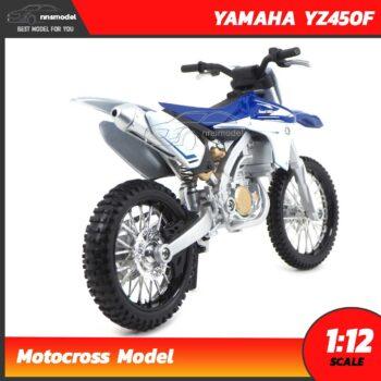 โมเดลมอเตอร์ไซด์ รถวิบาก YAMAHA YZ450F (Scale 1:12) Motocross Model ประกอบสำเร็จ