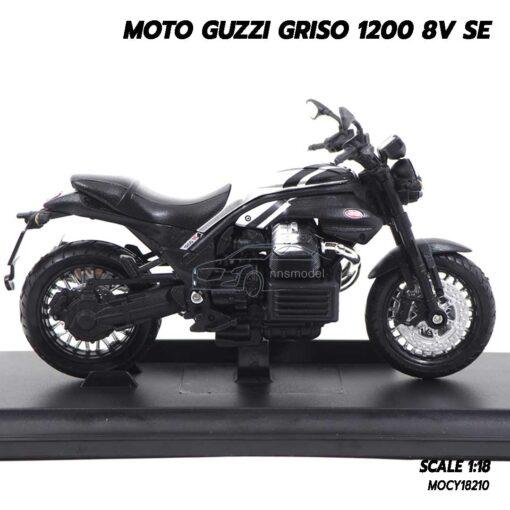 โมเดลมอเตอร์ไซด์ MOTO GUZZI GRISO 1200 8V SE (1:18) โมเดลจำลองสมจริง พร้อมฐานตั้งโชว์