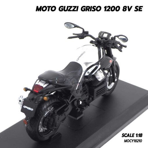 โมเดลมอเตอร์ไซด์ MOTO GUZZI GRISO 1200 8V SE (1:18) โมเดลรถสะสม Welly