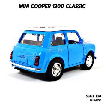 โมเดลรถคลาสสิค MINI COOPER 1300 CLASSIC สีฟ้า (1:38) รุ่นมีเสียงมีไฟ
