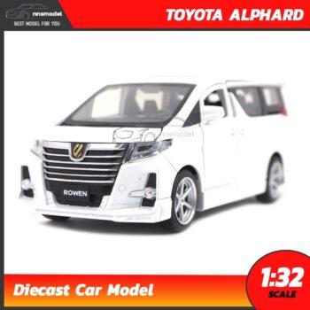 โมเดลรถตู้ โตโยต้า Toyota Alphard (Scale 1:32) รถเหล็กโมเดล มีเสียงมีไฟ สีขาว