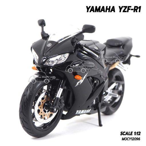 โมเดลรถบิ๊กไบค์ YAMAHA YZF-R1 สีดำ (1:12) โมเดลสำเร็จ พร้อมส่งเป็นของขวัญ