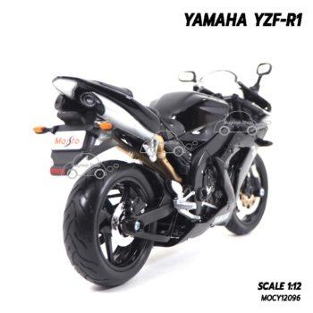 โมเดลรถบิ๊กไบค์ YAMAHA YZF-R1 สีดำ (1:12) โมเดลสำเร็จพร้อมวางตั้งโชว์