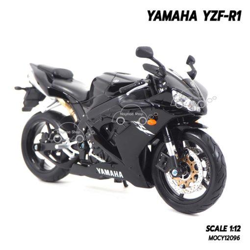 โมเดลรถบิ๊กไบค์ YAMAHA YZF-R1 สีดำ (1:12) โมเดลลิขสิทธิแท้ ผลิตโดย Maisto