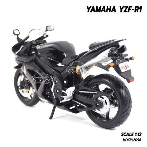 โมเดลรถบิ๊กไบค์ YAMAHA YZF-R1 สีดำ (1:12) โมเดลรถจำลองเหมือนจริง