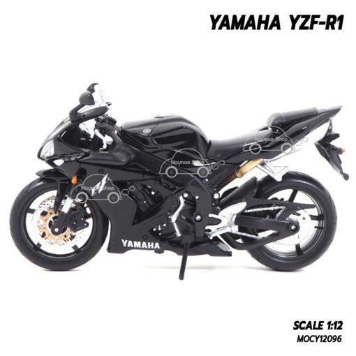 โมเดลรถบิ๊กไบค์ YAMAHA YZF-R1 สีดำ (1:12) รถจำลองเหมือนจริง