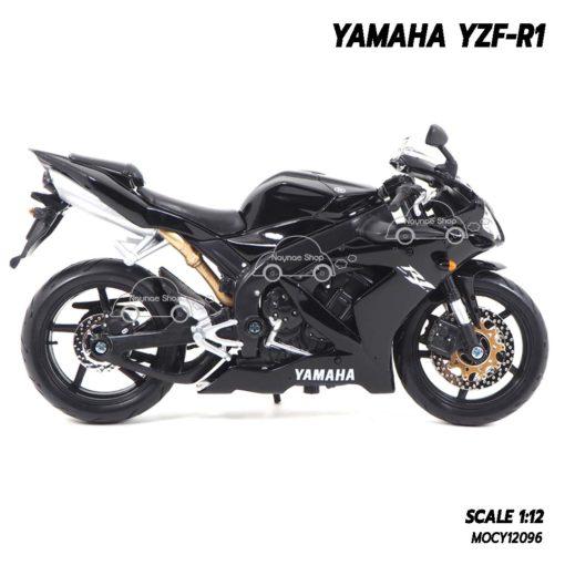 โมเดลรถบิ๊กไบค์ YAMAHA YZF-R1 สีดำ (1:12) โช๋๊คอัพกดขึ้นลงได้