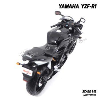 โมเดลรถบิ๊กไบค์ YAMAHA YZF-R1 สีดำ (1:12) มีขาตั้งวางตั้งโชว์