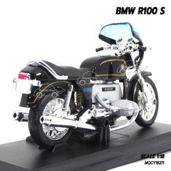โมเดลรถมอเตอร์ไซค์ BMW R100 S สีดำ (1:18) โมเดลคลาสสิคน่าสะสม