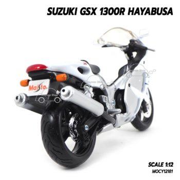 โมเดลรถมอเตอร์ไซค์ SUZUKI GSX 1300R HAYABUSA สีขาว (1:12) โมเดลประกอบสำเร็จ