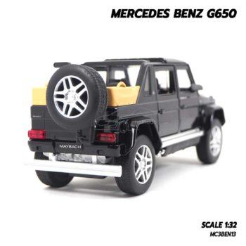 โมเดลรถเบนซ์ MERCEDES BENZ G650 สีดำ (Scale 1:32) โมเดลรถเหล็ก มีเสียงมีไฟ