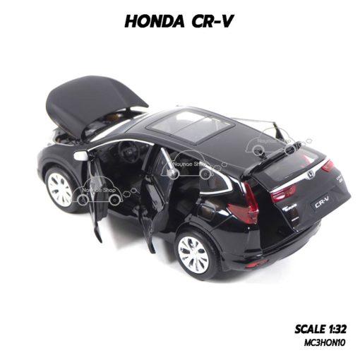 โมเดลรถ ฮอนด้า CRV สีดำ (1:32) เปิดประตูท้ายรถได้