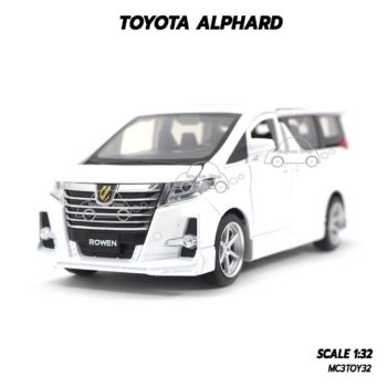 โมเดลรถ โตโยต้า TOYOTA ALPHARD สีขาว (1:32)