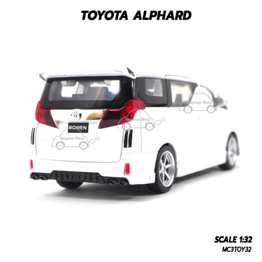 โมเดลรถ โตโยต้า TOYOTA ALPHARD สีขาว (1:32) รถโมเดลเหมือนจริง