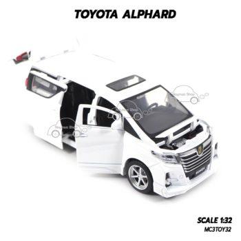 โมเดลรถ โตโยต้า TOYOTA ALPHARD สีขาว (1:32) เปิดประตูได้ครบ