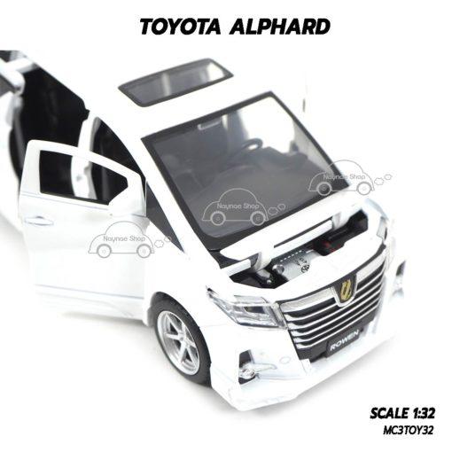 โมเดลรถ โตโยต้า TOYOTA ALPHARD สีขาว (1:32) เปิดฝากระโปรงหน้ารถได้