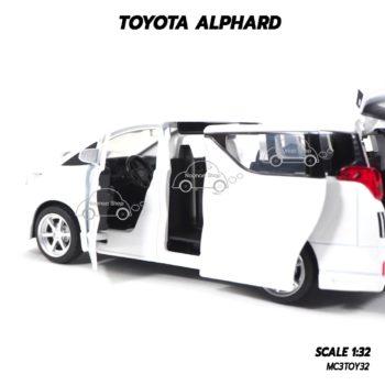 โมเดลรถ โตโยต้า TOYOTA ALPHARD สีขาว (1:32) ประตูหลังเปิดแบบสไลด์
