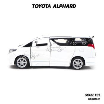 โมเดลรถ โตโยต้า TOYOTA ALPHARD สีขาว (1:32) โมเดลรถประกอบสำเร็จ