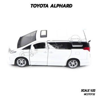 โมเดลรถ โตโยต้า TOYOTA ALPHARD สีขาว (1:32) รถโมเดลประกอบสำเร็จ