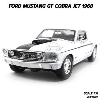 โมเดลรถ FORD MUSTANG GT COBRA JET 1968 สีขาว (1:18)