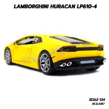 โมเดลรถ LAMBORGHINI HURACAN LP610 (1:24) โมเดลประกอบสำเร็จ พร้อมตั้งโชว์