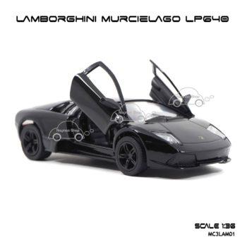 โมเดลรถ LAMBORGHINI MURCIELAGO LP640 สีดำ (1:36) เปิดประตูปีกนกซ้ายขวาได้