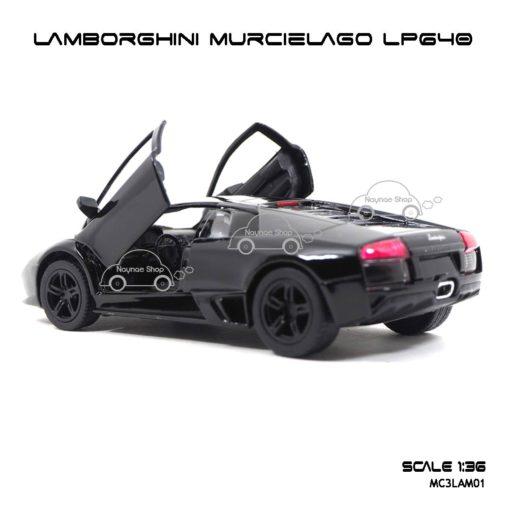 โมเดลรถ LAMBORGHINI MURCIELAGO LP640 สีดำ (1:36) ภายในรถเหมือนจริง