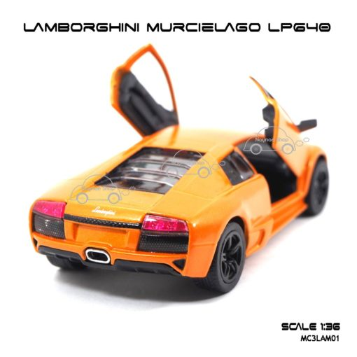 โมเดลรถ LAMBORGHINI MURCIELAGO LP640 สีส้ม (1:36) รถของเล่นราคาถูก