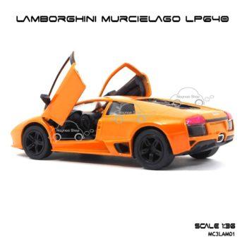 โมเดลรถ LAMBORGHINI MURCIELAGO LP640 สีส้ม (1:36) รถเหล็กของเล่น