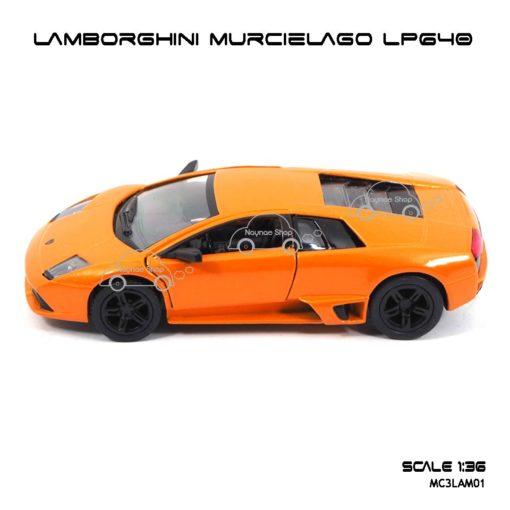 โมเดลรถ LAMBORGHINI MURCIELAGO LP640 สีส้ม (1:36) โมเดลรถเหล็ก ขายส่ง