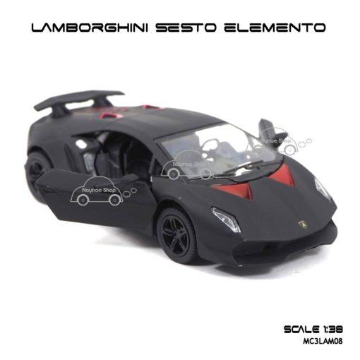 โมเดลรถ LAMBORGHINI SESTO ELEMENTO สีดำด้าน (1:38) เปิดประตูรถได้